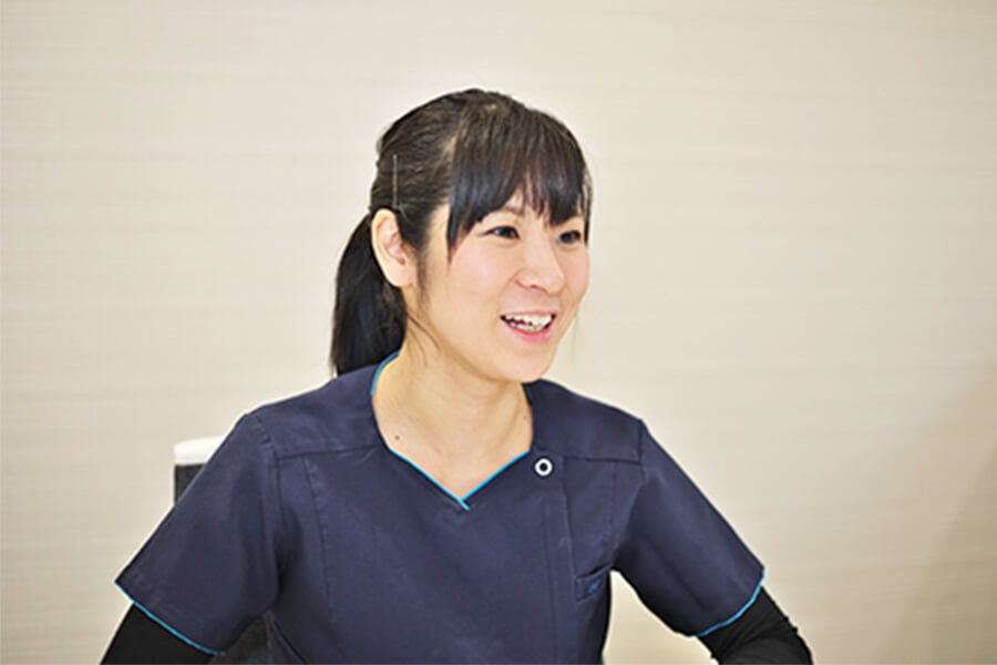 Q.入職のきっかけを教えてください。 中嶋歯科医院 歯科医師 2016年入職 田中 洋子