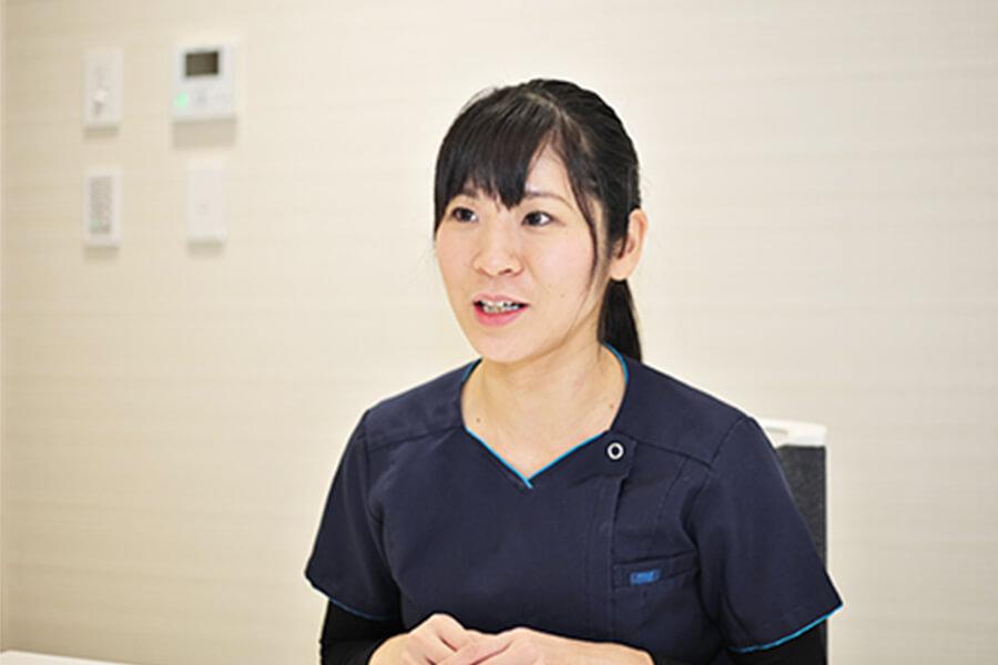 Q.「ここは成長できた」という部分はどこですか。 中嶋歯科医院 歯科医師 2016年入職 田中 洋子