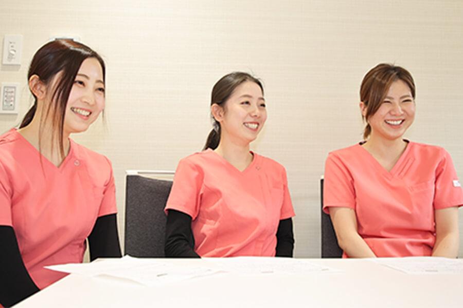 Q.職場の雰囲気を教えてください。 中嶋歯科医院 歯科衛生士座談会
